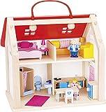1 Stück - Koffer Puppenhaus mit Zubehör