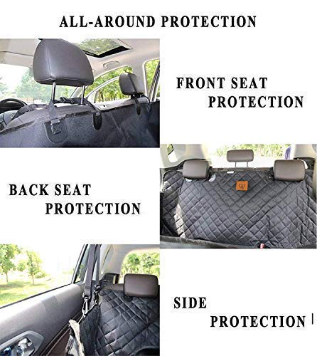 AMZPET Dog Car Seat Cover for Dogs, Waterproof with Door Protection, Durable Nonslip Scratch Proof Washable Pet Back Seat Cover. 3-in-1 Car Seat Protector, Boot Liner, Dog Travel Hammock for all Cars 8