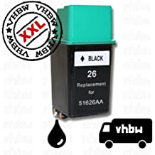 vhbw kompatible Ersatz Tintenpatrone Druckerpatrone schwarz Drucker HP Deskjet 400, 400L, 420C, 500, 500C, 500P, 505J, 510, 512c, 520, 540, 540C, 550C