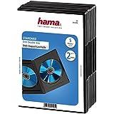 Hama DVD Double Case 5-Pack (également adapté pour les CD et Blu-ray, avec une feuille pour insérer le couvercle) noir