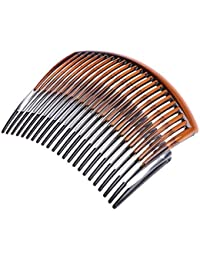 C.S Collection Pack Of 3 Pcs Black/Brown / Transparent White Hair Comb Clip Hair Accessories For Womens/Girls...