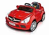 Original Mercedes Benz Linzenz Sportwagen SL 65 AMG Kinderauto Elektroauto Fernbedienung MP3 Anschluss in Rot