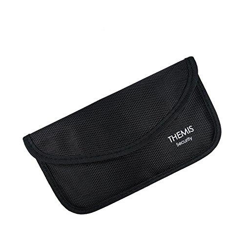 THEMIS Security - GEN3 Nylon schwarz XL - 3 Lagen Abschirmung - GSM/LTE/RFID/NFC Abschirmhülle - geeignet für iPhone 4-5s und 6 (Nicht 6s oder 6+) Größe, 2 Fächer