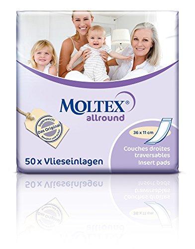 200 MOLTEX allround Hygiene Einlagen 4x 50er 36x11cm Inkontinenzeinlagen Damen u Herren - Inkontinenzeinlagen