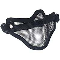 SODIAL(R)Tactica Caza Alambre de Metal La Mitad Cara CS Mascara Airsoft del Acoplamiento Mascara Paintball Resistente