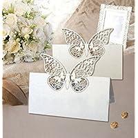 FOME casa e cucina 48taglio laser Farfalle Matrimonio Segnaposto numero tavolo decorazione festa di nozze Favor + FOME regalo