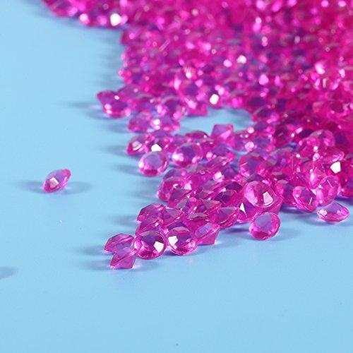 2000UNIDs Acryl Crystal Clear Diamond Confetti Scatters Rhinestones 4.5mm für Brautpaar Vase Dusche Kugeln Dekoration der Hochzeit 9Farben optional Hot Pink (Crystal-vase)
