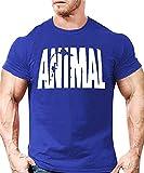 YeeHoo Herren Animal Kurzarm Tank Shirt Optimal für Fitnessstudio, Gym & Bodybuilding,Slim-Fit, Rundhals Print