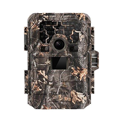 TEC.BEAN 12 MP HD 1080P Caméra de Chasse Imperméable, Surveillance Infrarouge Sans Luminosité avec 36 LED IR, Vision Nocturne jusqu'à 23 m (SG-009)
