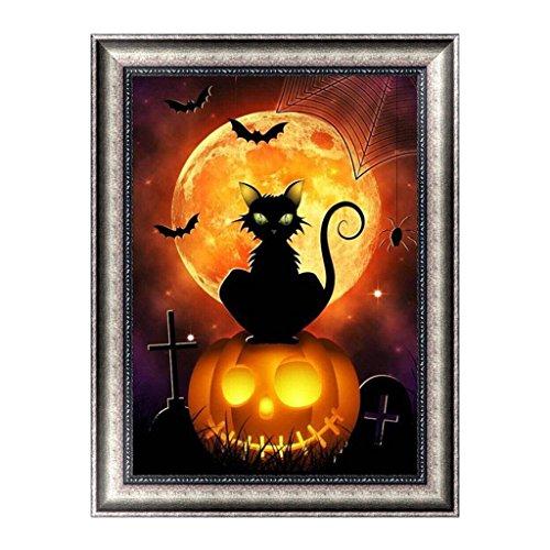 Vektenxi Halloween DIY 5D Diamant Malerei Voll Kits, Kristall Strass Stickerei Bilder Kunsthandwerk Geschenk Langlebig und Praktisch
