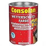 Consolan Wetterschutzfarbe 2,5 Liter, schwarz Nr. 209