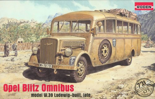 Roden rd721–1/72 Opel Flash Bus w.39 Ludewig-Built, Late