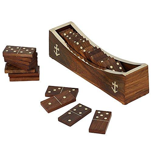Hölzerne Dominion Spiel, Offenen Boot Tray Und Stücke, Handgemachte Weihnachtsgeschenk; Brettspiel Für Erwachsene