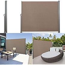 IDMarket - Paravent rétractable 300 x 200 cm store taupe latéral enroulable