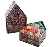 Deine Naschbox - Lebkuchenhausdose gefüllt mit 400g zuckerfreiem Fruchtgummi