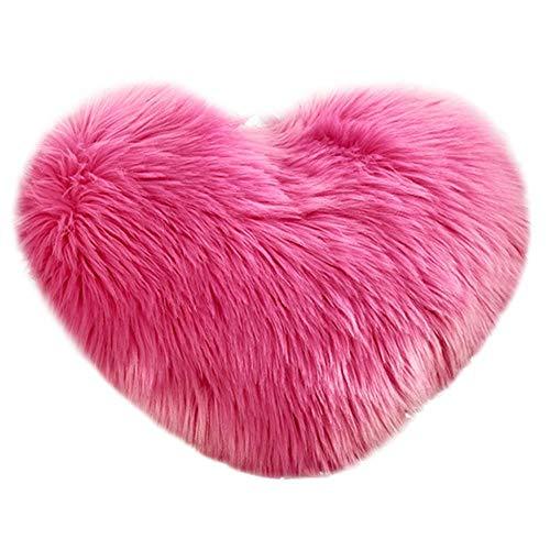 VJGOAL Encantador en Forma de corazón Funda de Almohada Suave y cómodo...