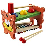 Smibie Baby Kinder Spielzeug Xylophon und Hammerspiel aus Holz