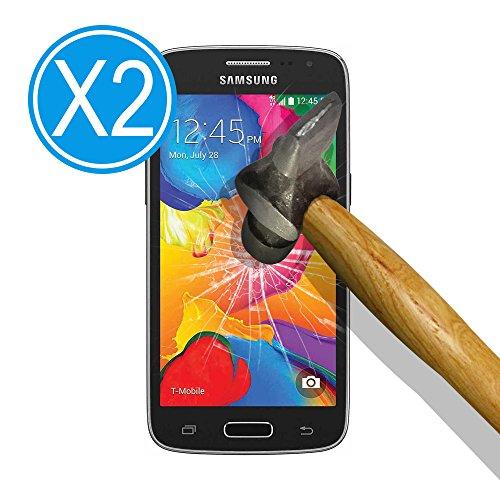 9H Tempered Glass [2 Stück] Premium Hartglas Displayschutzfolie für [ Samsung Galaxy Core LTE 4G SM-G386F - Avant G386T ], Gehärtetem Glas