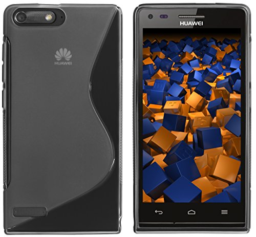 mumbi S-TPU Schutzhülle Huawei Ascend P7 Mini Hülle transparent schwarz