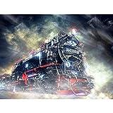 Steam Engine Locomotive Train Engine Graphic Large XL Wall Art Canvas Print Vapor Motor Locomotora Entrenar Motor Gráfico Pared