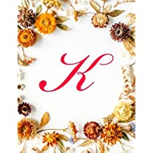 """K: Monogram Initial Stylist Appointment Book 7 Columns Appointment Log Book, Appointment Time Planner,Hourly Appointment Planner, 8.5"""" x 11"""", 110 pages: Volume 11"""