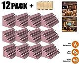 Acepunch 12 piezas PÚRPURA Pequeño Trampa para Bajos Baldosas de Espuma de Aislamiento Acústico Estudio 12 X 12 X 24 cm AP1133