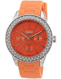 Esprit Damen-Armbanduhr marin glints Analog Quarz Silikon ES106222004