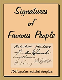 Signatures of Famous People by [Young, Jack]