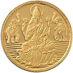 Bangalore Refinery 5 gm, 24k (999) Yellow Gold Lakshmi Coin