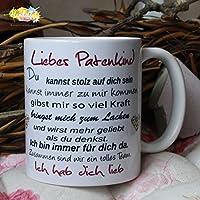 Kaffeebecher ~ Tasse - Liebes Patenkind~ Tante Onkel~ Weihnachten Geschenk