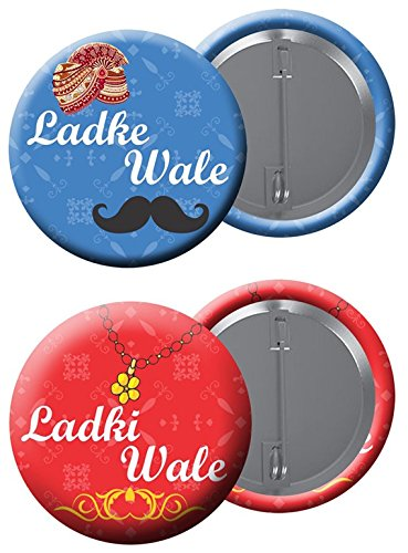 Paper Plane Design Ladkewale Badge Fashion Jewellery Collection. Set of 10 Total 20 b