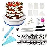 Klion Tortenständer Kuchen Drehteller Tortenplatte drehbar Cake Decorating Turntable mit