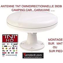 Antena TDT para caravana o barco, 35 decibelios, omnidireccional