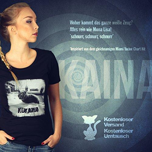 Kokaina - Damen T-Shirt von Kater Likoli Deep Black
