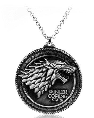 Dolphins Deals Joyería de moda ~ Juego de Tronos Casa de Stark lobo  colgante collar ( 5ebc420aa