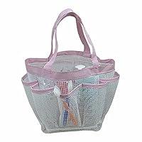 Bath Basket, bathroom sink basket, swimming fitness storage basket,Pink edge B