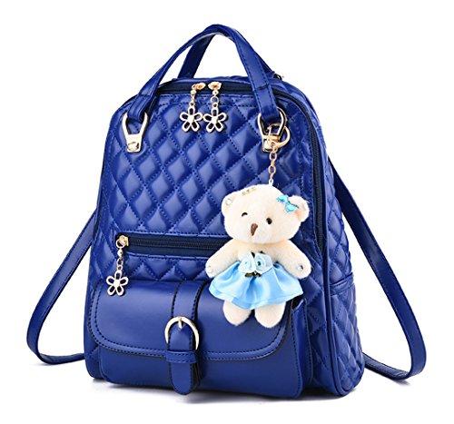 Longzibog Einfache und Modedesign. Nie aus der Mode. Mode Damen accessories hohe Qualit?t Einfache Tasche Schultertasche Freizeitrucksack Tasche Rucks?cke Tiefblau