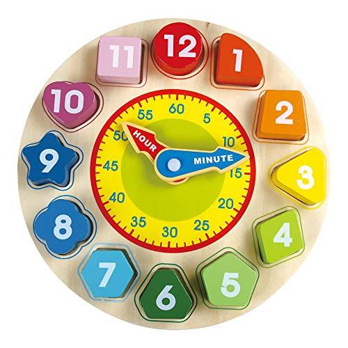 Reloj Madera Juguete Niños - Juguetes Niños Números