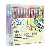 48 Stück Gelschreiber Gelstifte Set, Aril-gxr bunte Stifte inklusive Glitte,...