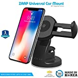 #8: ZAAP Quicktouch Three Car Mount Mobile Holder For Interior Fittings Car Windshield, Dashboard & Working Desks (Black)