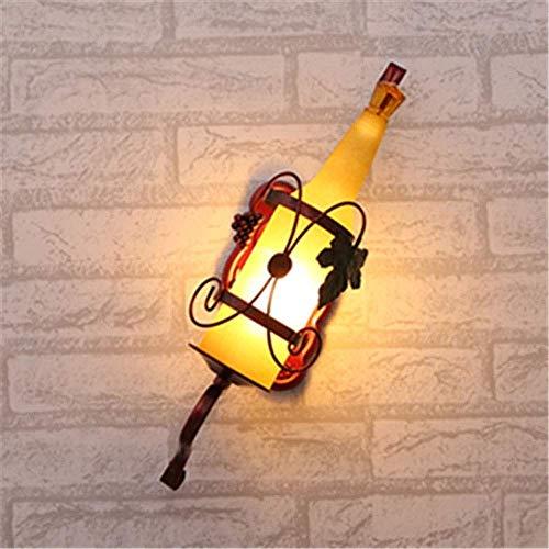 Wandleuchte, Schlafzimmer Lampe Nachttischlampe Weinflasche Wandbehang moderne diffuse Kaffee Bar Retro Bar Tisch Gang Wandleuchten, Nachtlichter, Sternenlicht Fee Lu (Color : Yellow) - Schlafzimmer-modern-kaffee-tisch
