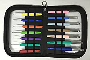 KnitPro WAVES Crochet Needle Set BIG 14 Aluminium Crochet Hooks 2, 0-12,0 MM 30925 Item by KnitPro