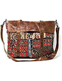 Indian Bohemian Handmade Adjustable Messenger Shoulder Bag - Vintage Upcycled Fabric By East Of The Sun