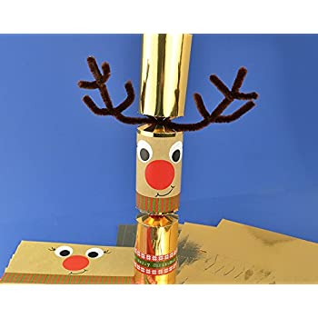 8 gold foil standy uppy rudolph make your own christmas crackers kit 8 gold foil wobbly standy uppy rudolph make your own christmas crackers kit solutioingenieria Choice Image