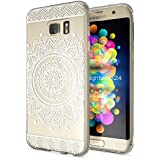 delightable24 Coque de Protection TPU Silicone Case pour Smartphone SAMSUNG GALAXY S7 EDGE - Circle Flowers