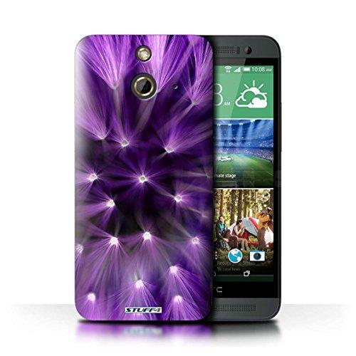 Kobalt® Imprimé Etui / Coque pour HTC One/1 E8 / Jaune conception / Série Couleur/Lumière Fleur Pourpre