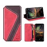 MOBESV Smiley Nokia 6 2018 Wallet Case, Nokia 6.1 Leather