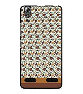 PrintDhaba Owl pattern D-1865 Back Case Cover for LENOVO A6000 (Multi-Coloured)