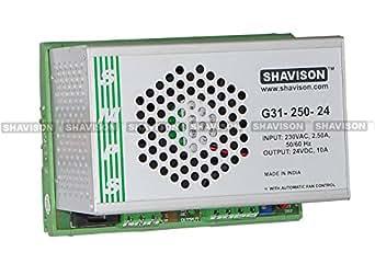 Shavison SMPS G31-250-24, I/P : 230VAC, O/P : 24V, 10A