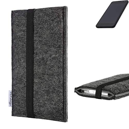 flat.design Handyhülle Lagoa für Shift Shift5.3 | Farbe: anthrazit/grau | Smartphone-Tasche aus Filz | Handy Schutzhülle| Handytasche Made in Germany